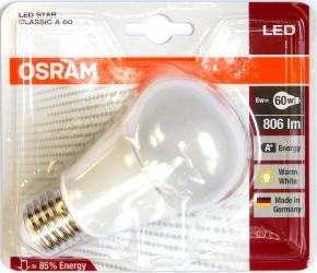 Osram-E27-8W-A60-Pack-vorn