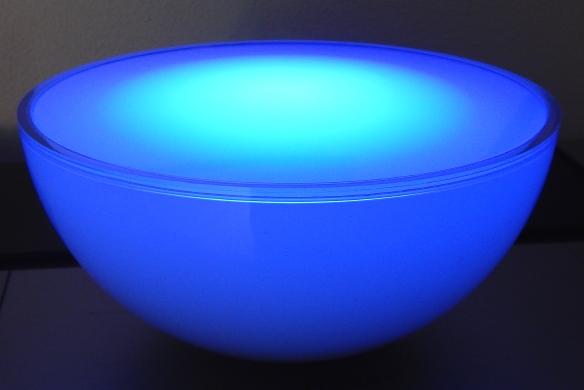 Die Integrierte, Mobile U201chue Gou201c LED Leuchte Von Philips Leuchtet  Tatsächlich Blau U2013 Aber Nur, Wenn Sie Auf Diese Farbe Eingestellt Wird.  (Fotos: W. Messer)