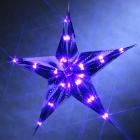 LED-Weihnachtsstern blau