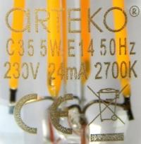 Arteko-E14-4,5W-Aufdruck
