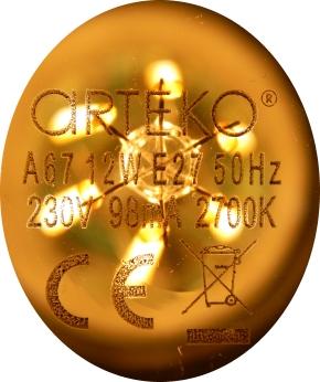 Arteko-E27-12W-Aufdruck