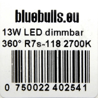 Bluebulls-R7s-13W-Aufkleber