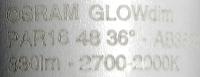 Osram-GU10-GLOWdim-Aufdruck