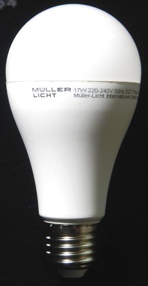 m ller licht 400016 a led lampe birnenform essentials ersetzt 60 w plastik 9 watts e27. Black Bedroom Furniture Sets. Home Design Ideas
